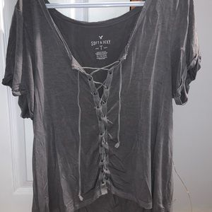 American Eagle | soft & sexy tie up T-shirt